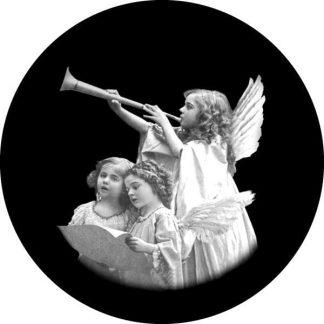 gobo scala di grigio bambini che cantano angelo gobo natalizio