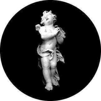 gobo scala di grigio putto angelo angioletto gobo natalizio