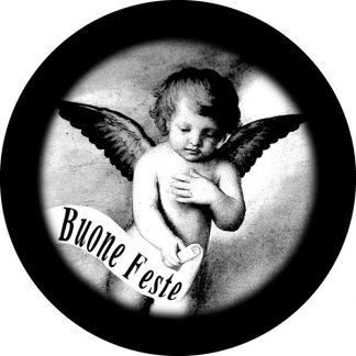 gobo scala di grigio putto angelo angioletto gobo natalizio nuone feste