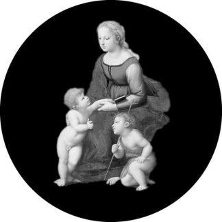 gobo scala di grigio madonna con bambino gobo natalizio