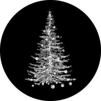 gobo scala di grigio albero di natale gobo natalizio