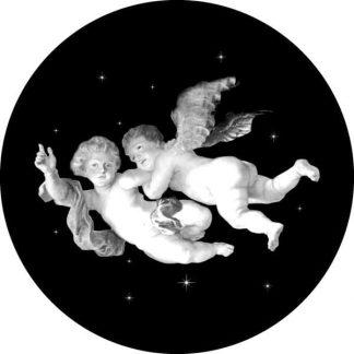 gobo scala di grigio putti angelo angioletto gobo natalizio