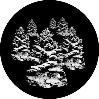 gobo scala di grigio alberi innevati gobo natalizio