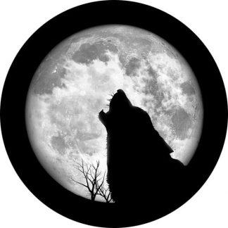 gobo scala di grigio luna lupo ulula notte natura animale