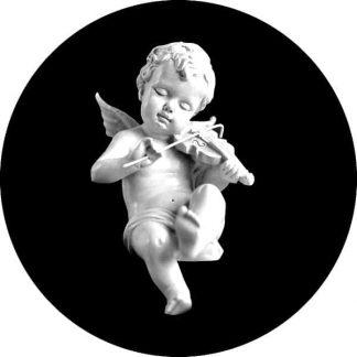 gobo scala di grigio angelo angioletto putto gobo natalizio