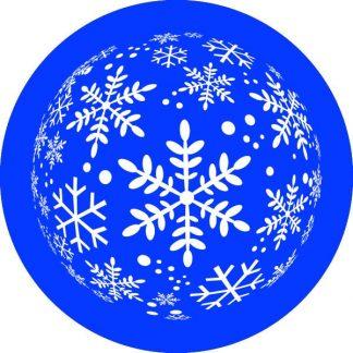 gobo un uno 1 colore fiocchi di neve gobo natalizio blu