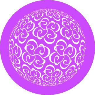 gobo 1 un uno colore motivi geometrici viola