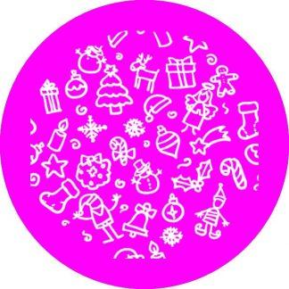 gobo un uno 1 colore motivi natalizi gobo natalizio magenta rosa