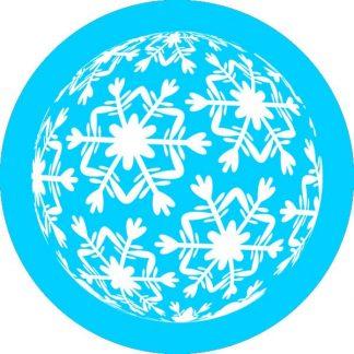 gobo un uno colore fiocchi di neve gobo natalizio ciano azzurro