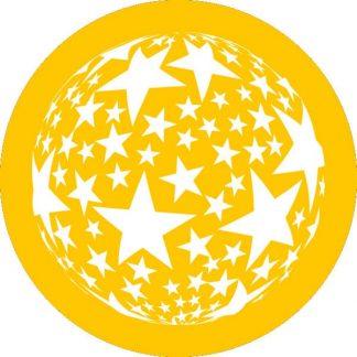 gobo 1 uno un colore stelle gobo natalizio giallo
