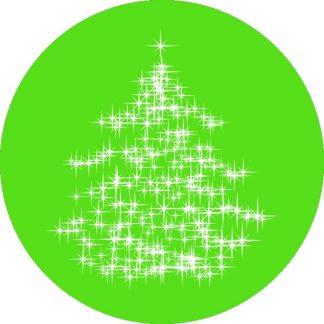 gobo 1 uno un colore albero di natale luci gobo natalizio verde