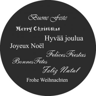gobo bianco e nero buone feste in tutte le lingue gobo natalizio
