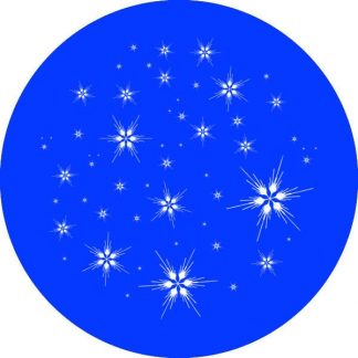gobo 1 uno un colore fiocchi di neve gobo natalizio blu