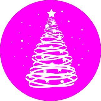 gobo 1 uno un colore albero di natale luci gobo natalizio rosa magenta