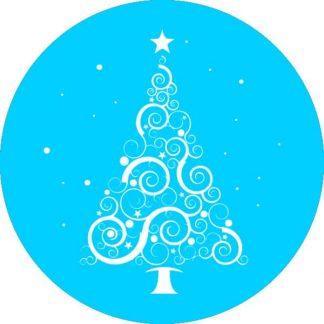 gobo 1 uno un colore albero di natale luci gobo natalizio ciano azzurro