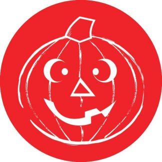 gobo 1 un uno colore zucca di halloween rosso