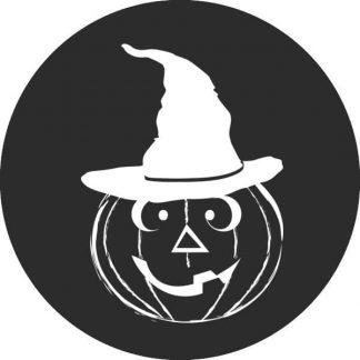 gobo bianco e nero zucca di halloween