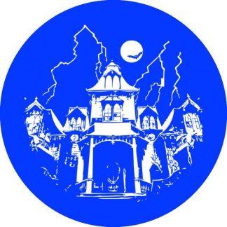 gobo 1 uno un colore casa stregata halloween blu