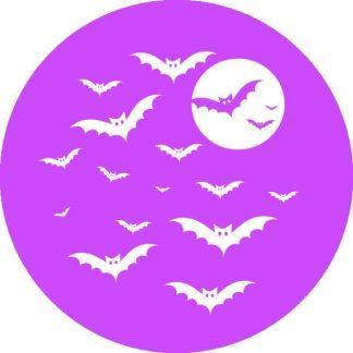 gobo 1 un uno colore pipistrelli notte di halloween viola