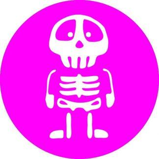 gobo 1 uno un scheletro notte di halloween rosa magenta
