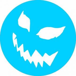 gobo 1 un uno colore zucca di halloween faccia spaventosa azzurro ciano