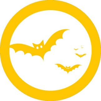 gobo 1 uno un colore pipistrelli notte di halloween giallo