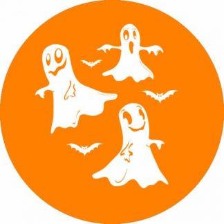 gobo 1 uno un colore notte di halloween fantasmi arancione