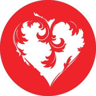 gobo 1 uno un colore cuore san valentino amore rosso