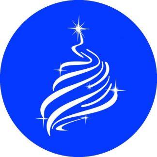 gobo 1 uno un colore albero di natale luci gobo natalizio blu