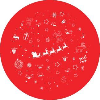 gobo 1 uno un colore motivi natalizi auguri buon natale gobo natalizio rosso