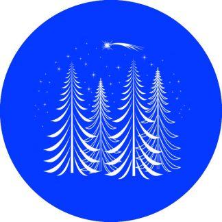 gobo 1 uno un colore alberi di natale pini stelle stella cometa gobo natalizio blu