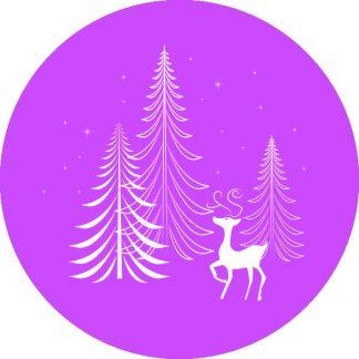 gobo 1 uno un colore alberi di natale pini stelle renna gobo natalizio viola