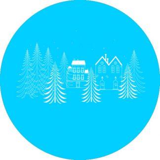 gobo 1 uno un colore alberi di natale pini stelle gobo natalizio ciano azzurro