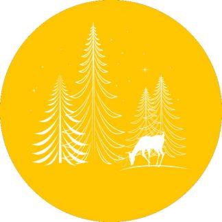 gobo 1 uno un colore alberi di natale pini stelle renna gobo natalizio giallo
