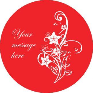 gobo 1 uno un colore fiori testo messaggio personalizzato rosso