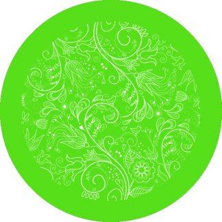 gobo 1 un uno colore motivi floreali verde