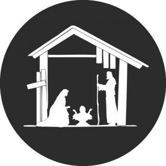 gobo bianco e nero madonna con bambino presepe presepio natività gobo natalizio