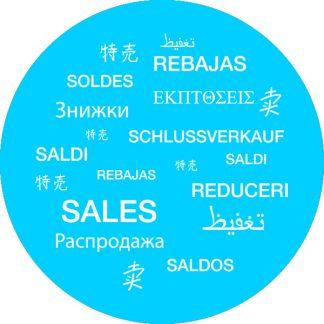 gobo 1 un uno colore saldi in tutte le lingue ciano azzurro