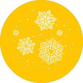 gobo 1 un uno colore fiocchi di neve gobo natalizio giallo