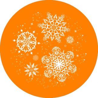 gobo 1 un uno colore fiocchi di neve gobo natalizio arancione