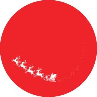 gobo 1 uno un colore slitta di babbo natale gobo natalizio rosso