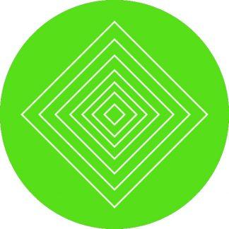 gobo 1 un uno colore motivi geometrici verde
