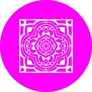 gobo 1 un uno colore motivi geometrici magenta rosa
