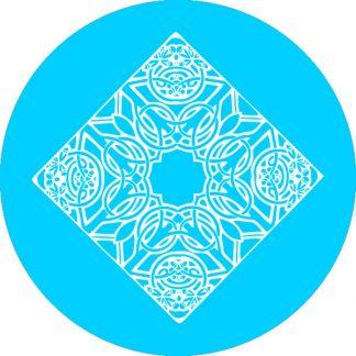gobo 1 uno un colore motivi geometrici ciano azzurro