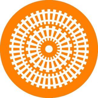 gobo 1 uno un colore motivi geometrici arancione