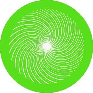 gobo 1 uno un colore motivi geometrici spirale verde