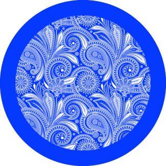 gobo 1 uno un colore motivi floreali blu