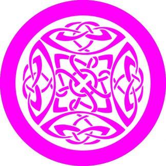 gobo 1 uno un colore motivi geometrici magenta rosa