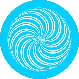gobo 1 uno un colore gobomotivi geometrici spirale ciano azzurro