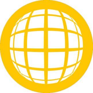 gobo 1 uno un colore motivi geometrici giallo